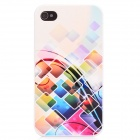 Glow-in-the-dark Protective Plastic Back Case for Iphone 4 / 4S - Beige + Multi-colored