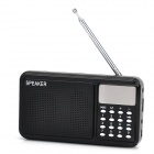 JLJ-A8 Portable TF / FM Radio Multimedia Speaker - Black + Silver (32GB Max.)