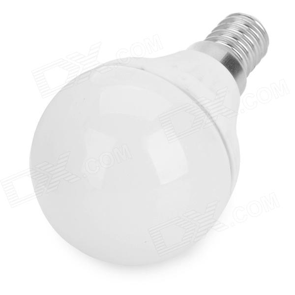 E14-ceramic -ww 3w 60lm 3500k E14 Warm White Ceramic + PC LED Lamp - White + Silver