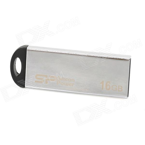 SP Mini Stainless Steel Housing USB Flash Drive - Silver + Black (16GB)