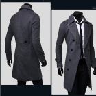 VSKA 5625 Stylish Men's Slim Fit Double-Breasted Cotton Coat - Grey (Size-XL)
