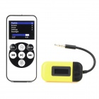 3.5mm jack fm transmitter w/ remote control set for iphone + ipad + more - yellow