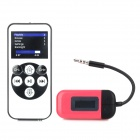 3,5 mm Klinke FM Transmitter w / Remote Control Set für Iphone + Ipad - Deep Pink