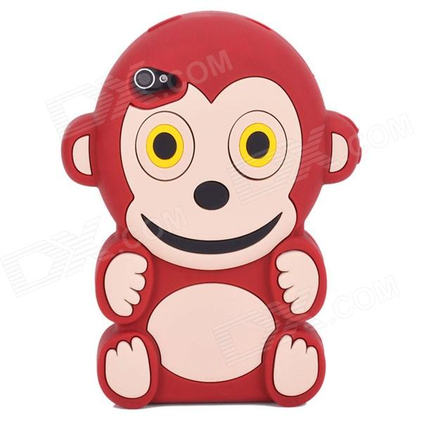 Cute 3D Monkey Pattern Silicone Back Case for Iphone 4 / 4S - Black + White карта памяти other sd 64 32 16 8gb 4gb 10 oem