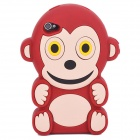 Cute 3D Monkey Pattern Silicone Back Case for Iphone 4 / 4S - Black + White