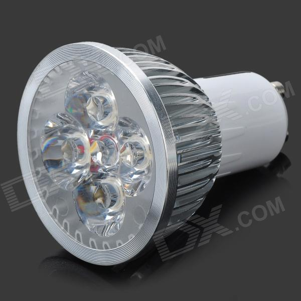JZ-GU10-4W-WW-Dimmer 400lm 3500K Warm White Light Spotlight - Silver + White