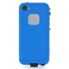 Waterproof Protective Plastic Full Body Case for Iphone 5 - Black + Blue