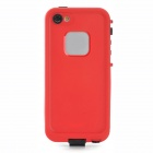 Waterproof Protective Plastic Full Body Case for Iphone 5 - Black + Red