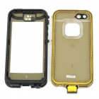 Waterproof Protective Plastic Case for Iphone 5 - Black + Army Green