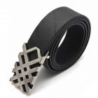 JY-0945 Fashionable PU Leather Men's Belt - Black