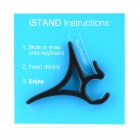 HongYang HYS1 Portable Desktop Plastic Holder for Tablet PC + Mobile Phone - Black (Pair)