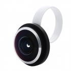 Universal Clip Style 235 Degree Fisheye Lens for Iphone / Ipad + More - White + Black