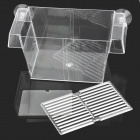 FH-01 Plastic Fish Hatching / Isolating Tank w/ 3-Suction Cups - Transparent