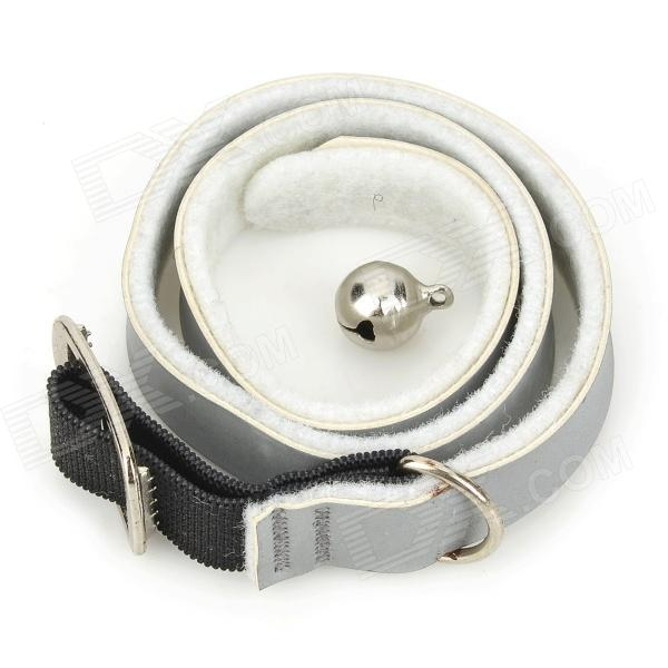 MG10 Reflective Non-woven Flea & Tick Collar w/ Collar for Dog Cat - Grey + White