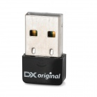 DX Original Ultra-Mini USB 2.0 802.11n/b/g 150Mbps Wi-Fi / WLAN Wireless Network Adapter - Black