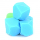 Creative Cute Silicone Magnets for Note Pads - Blue + Green (5 PCS)
