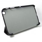 Hair Silk Stylish Protective PU Leather Case Cover Stand for the Samsung Galaxy Tab 8.0 T310 - Black