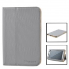 TG (TeamGee) Protective PU Leather Case Cover Stand for Samsung N5100 / TG Super8 E1 - Grey