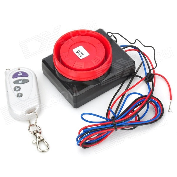 Vibration Activated 100dB Motorcycle Anti-Theft Security Alarm with Remote Control Keychain