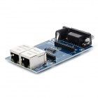 VRM04 UART Serial Port to Ethernet Test Board Module - Blue + Black + Silver