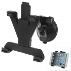 "360 Degree Rotation Holder Mount w/ H80 Suction Cup + C60 Back Clamp for 7~10"" Tablet PC - Black"