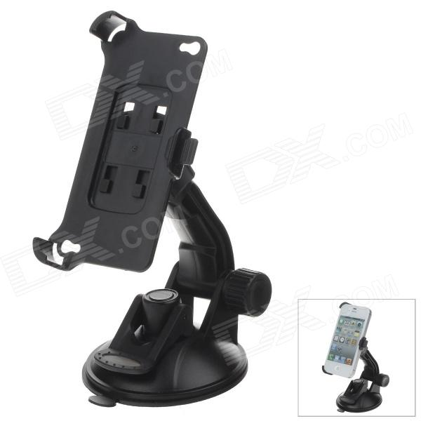 360 Degree Rotation Holder Mount Bracket w/ H80 Suction Cup for Iphone 4 / 4S - Black h08 360 rotation 4 port suction cup holder w silicone back clip for iphone 4 4s 5 ipad mini ipod