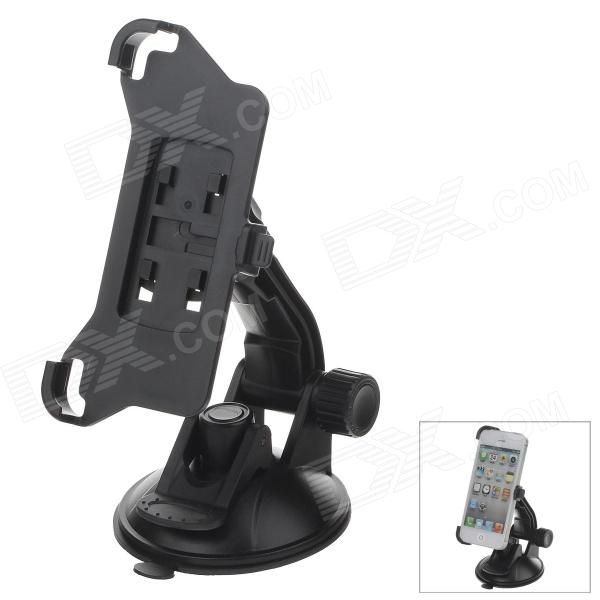 360 Degree Rotation Holder Mount Bracket w/ H80 Suction Cup for Iphone 5 - Black h08 360 rotation 4 port suction cup holder w silicone back clip for iphone 4 4s 5 ipad mini ipod