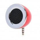 Cute Mini Portable Speaker w/ Buitl-in 3.5mm Jack Male Pin for Cellphone - Silver + Red