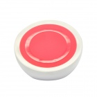 2-in-1 Mini Universal Standard Wireless Charger w/ Holder Stand - Red + White