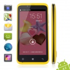 "TIMMY E128 MTK6572 Dual-Core Android 4.2 GSM / WCDMA Bar Phone w/ 4.5"", 4GB ROM, 3G, GPS - Yellow"
