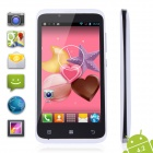 "TIMMY E128 MTK6572 Dual-Core Android 4.2 GSM / WCDMA Bar Phone w / 4,5 "", 4 GB ROM, 3G, GPS - Weiß"