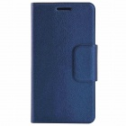 THL Protective PU Leather + Plastic Case Cover Stand for THL W100 - Blue