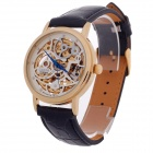 CJIABA Double-Sided Skeleton Design Automatic Men's Wrist Watch - Black + Golden + White