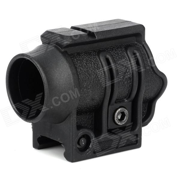 Plastic 30mm Gun Mount Holder for Flashlight - Black