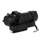 Aluminum Alloy 1X Red Absehen Gun Sight Scope für 20mm Schiene Guns - Schwarz