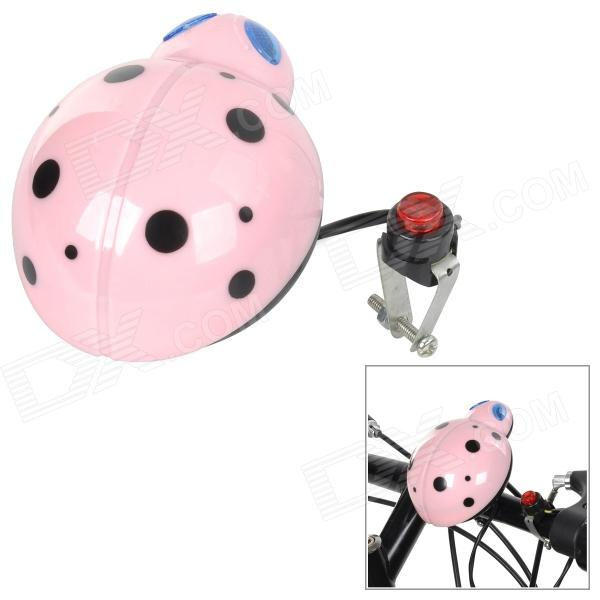 11-09 Universal Cute Beetle Style Electronic Horn for Bike - Pink + Black (2 x AA)