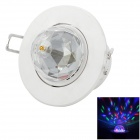 3W RGB LED 45lm Rotation Full Color Decken Stage Light w / Voice Control (220V)