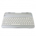 Rechargeable 82-Key Bluetooth V3.0 Wireless Keyboard for Samsung Galaxy Tab 3 P5200 - White + Silver