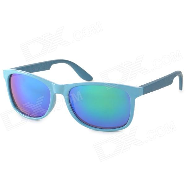 OREKA DY789 Fashion Retro Green REVO Resin Lens UV400 Protection Sunglasses - Blue