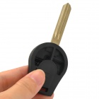 Replacement 2 Button Key Case for Nissan March - Black + Golden