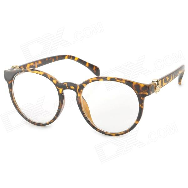 OREKA B092 Radiation Protection Anti-fatigue UV380 Protection Glasses - Golden cat eye glasses tinize 2015 tr90 5832