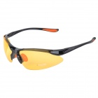 CARSHIRO XQ-212 Stylish Polarized UV400 Anti-dazzling Night Vision Cycling Goggles - Black + Orange