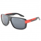 Arriette 2071 Fashion Grey Resin Lens UV400 Protection Sunglasses - Black + Red