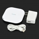 Frunda FCT001 Universal Qi Standard Mobile Wireless Charger - White + Black (100~240V)