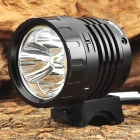 MarsFire M09 3 x Cree XM-L U2 2300lm 4-Mode White Bicycle Light - Black (4 x 18650)