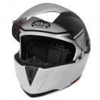 JK 908 Windproof Warm Motorcycle Helmet - Black + White (L)