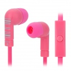 KEEKA MIC-104 Stylish In-Ear Earphone w/ Microphone - Deep Pink + Pink + Light Blue