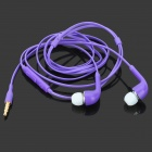 Stylish In-ear Earphone w/ Microphone / Controller for Samsung i9500 / S4 / S3 - Purple