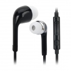 Stylish In-ear Earphone w/ Microphone / Controller for Samsung i9500 / S4 / S3 - Black