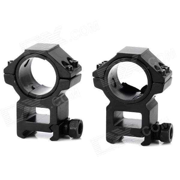 25.4 / 30mm Aluminum Alloy Gun Rail Mount w/ Hex Wrench 10pcs m3 aluminum column 6 10 15 25mm 20mm 28mm 30mm 35mm round aluminum alloy pillar standoff spacer fastener anti slip for rc